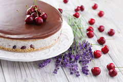Straciatella cheese cake Royalty Free Stock Images