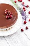 Straciatella cheese cake Stock Images