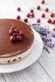 Straciatella cheese cake Stock Photo