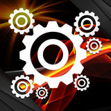 Stract technology concept on abstract background Stock Photography