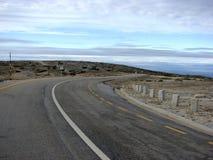 Strada abbandonata della montagna Immagine Stock