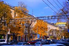 Strada affollata di Almaty Fotografie Stock Libere da Diritti