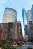 Strada affollata in New York Fotografia Stock