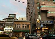 Strada affollata in Taiwan Fotografia Stock