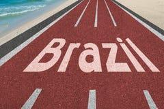 Strada ai giochi olimpici del Brasile a Rio 2016 Fotografia Stock Libera da Diritti