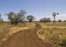Strada ai siti agricoli fotografie stock