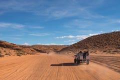 Strada al canyon superiore dell'antilope fotografia stock libera da diritti