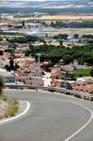 Strada al castello di Penafiel Immagini Stock