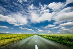 Strada al cielo Fotografia Stock