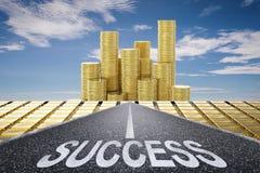 Strada al concetto di successo Fotografie Stock
