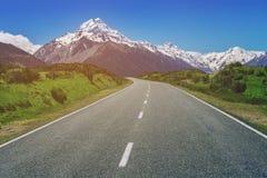 Strada al cuoco di Mt, Nuova Zelanda Fotografie Stock