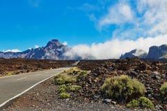 Strada al EL Teide del vulcano Fotografie Stock