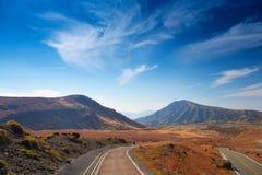 Strada al Monte Aso Fotografia Stock Libera da Diritti