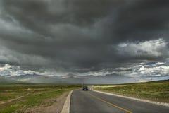Strada al Monte Kailash Fotografia Stock Libera da Diritti