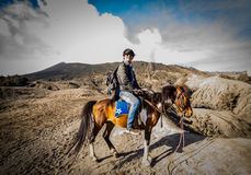Strada al Mt Bromo Fotografia Stock Libera da Diritti