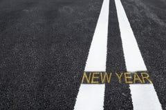 Strada al nuovo anno Immagine Stock