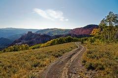 Strada al paese del canyon Immagini Stock Libere da Diritti
