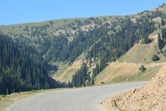 Strada al paradiso Gurez Kashmir fotografie stock libere da diritti