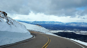 Strada al picco dei lucci, Colorado Fotografia Stock