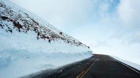 Strada al picco dei lucci, Colorado Immagine Stock