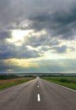 Strada al tramonto Immagini Stock Libere da Diritti