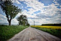 Strada al villaggio, Slovacchia Fotografie Stock Libere da Diritti