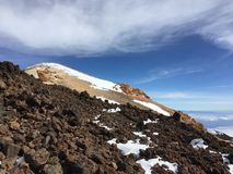Strada al vulcano fotografia stock