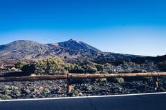 Strada al vulcano Immagine Stock
