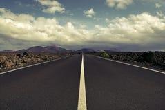 Strada al vulcano Fotografia Stock Libera da Diritti