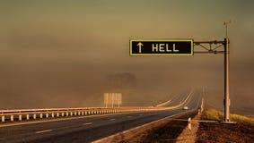 Strada all'inferno fotografia stock libera da diritti