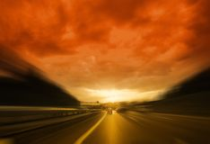 Strada all'inferno Fotografia Stock