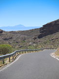 Strada all'isola di Gran Canaria Fotografie Stock Libere da Diritti