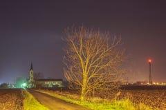 Strada alla chiesa Fotografie Stock