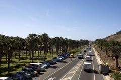 Strada alla costa Maspalomas Fotografie Stock