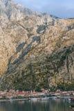Strada alla fortezza di Cattaro montenegro Fotografie Stock Libere da Diritti