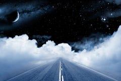 Strada alla galassia Fotografia Stock Libera da Diritti