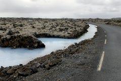 Strada alla laguna blu fotografia stock libera da diritti