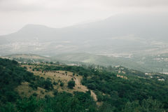 Strada alla montagna Immagini Stock Libere da Diritti