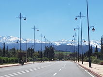 Strada alla montagna di atlante, Marocco Immagini Stock