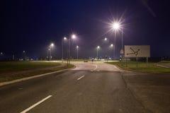Strada alla notte fotografia stock libera da diritti