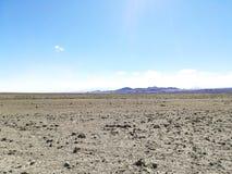 Strada alla riserva naturale del fenicottero, Cile fotografie stock