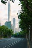 Strada alla torre di Shanghai Fotografia Stock