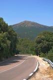 Strada alle montagne Immagini Stock