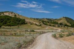 Strada alle montagne Fotografie Stock