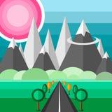 Strada alle montagne Illustrazione Vettoriale