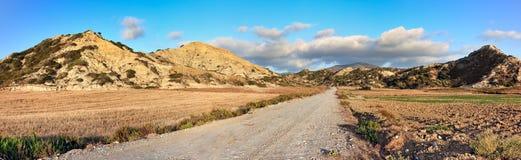 Strada alle montagne, isola della Rodi (Grecia) Fotografia Stock