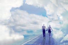 Strada alle nuvole Fotografia Stock