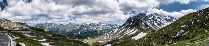 Strada alpina Fotografia Stock