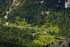 Strada alpina Immagini Stock Libere da Diritti