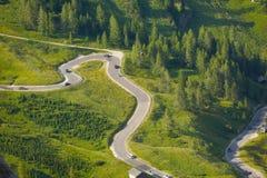 Strada alpina Immagine Stock Libera da Diritti